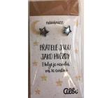 Albi Dárkový šperk náušnice Přátelé 1 pár