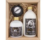Bohemia Gifts Gentleman sprchový gel pro muže 300 ml + pěna do koupele 500 ml + pěnivá bomba do koupele 100 g, kosmetická sada
