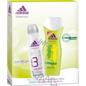 Adidas Action 3 Pro Clear antiperspirant deodorant sprej150 ml + sprchový gel 250 ml, kosmetická sada