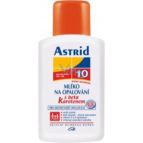 Astrid F10 Beta-karoten Mléko na opalování 200 ml