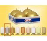 Lima Svíčka hladká metal stříbrná koule průměr 60 mm 4 kusy