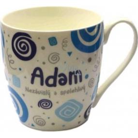 Nekupto Twister hrnek se jménem Adam modrý 0,4 litru