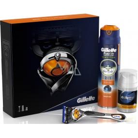 Gillette Fusion Proglide Flexball holící strojek + Fusion Proglide Sensitive Active Sport gel na holení 170 ml + Pro 3v1 balzám po holení 50 ml, kosmetická sada
