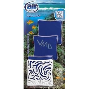 Air Menline Deo Picture Non Stop Elegant Aqua World gelový osvěžovač vzduchu 3 x 8 g