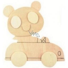 Dřevěná předloha k vymalování 3D Auto 13 cm