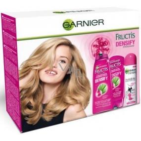 Garnier Fructis Densify posilující šampon 250 ml + Densify posilující balzám 200 ml + Invisible deodorant sprej 150 ml, kosmetická sada