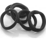 Vlasová gumička černá 3 x 0,8 cm 4 kusy
