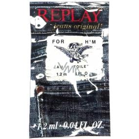 Replay Jeans Original for Him toaletní voda pro muže 1,2 ml, vialka