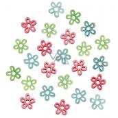 Květy dřevěné 2 cm 24 kusů