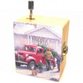Epee Vánoční hrací skříňka Deck the Halls 5,5 x 6,6 x 3,6 cm