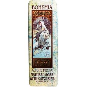 Bohemia Gifts & Cosmetics Alfons Mucha Aquaminerál a glycerin toaletní mýdlo 125 g