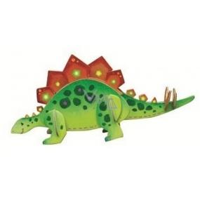 Dřevěné puzzle dinosauři 1 Stegosaurus 20 x 15 cm