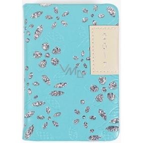 Albi Diář mini Modrý s glitrem 7,5 cm × 11 cm × 1,1 cm