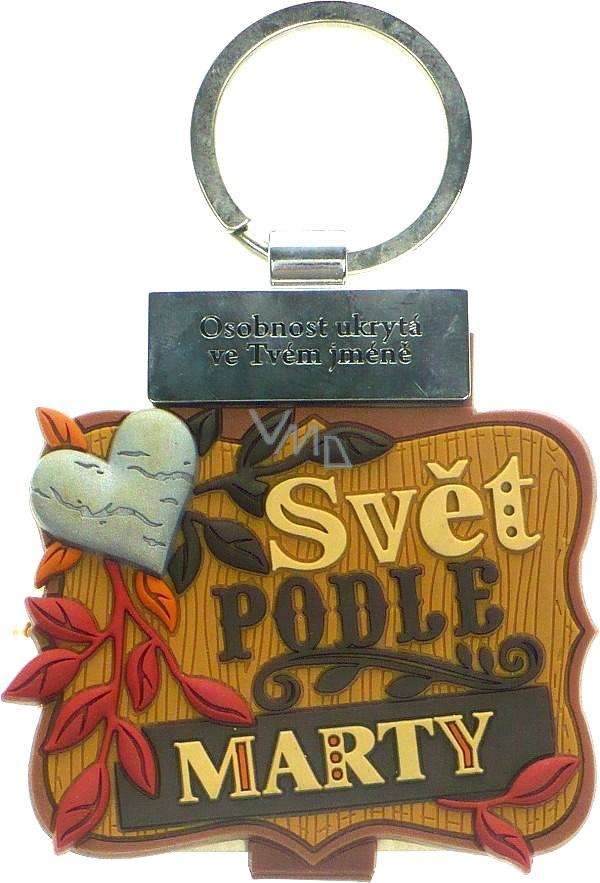 Albi Knížka se jménem na klíče Svět podle Marty 6 x 9,5 cm