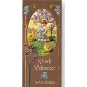 Bohemia Gifts & Cosmetics Veselé Velikonoce anděl s kuřátky Hořká čokoláda dárková 100 g