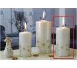 Lima Starlight svíčka bílá/zlatá válec 60 x 120 mm 1 kus
