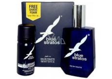 Blue Stratos toaletní voda 100 ml + pěna na holení 45 ml, kosmetická sada pro muže