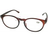 Berkeley Čtecí dioptrické brýle +1,5 plast hnědé, kulaté skla 1 kus MC2171