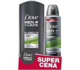 Dove Men + Care Elements Minerals & Sage sprchový gel 250 ml + deodorant sprej pro muže 150 ml, duopack