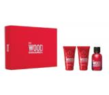 Dsquared2 Red Wood toaletní voda 50 ml + tělové mléko 50 ml + sprchový gel 50 ml, dárková sada