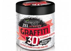 Bielenda Graffiti 3D Extra Strong Černá řepa gel na vlasy 250 g