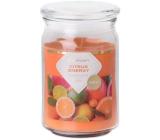 Emocio Citrus Energy - Energie citrusů vonná svíčka sklo se skleněným víčkem 93 x 142 mm