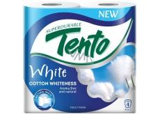 Tento Cotton Whiteness toaletní papír bílý 2 vrstvý 156 útržků 4 kusy