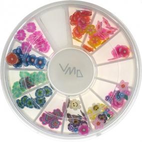 Professional Ozdoby na nehty květinky barevný mix 1 balení
