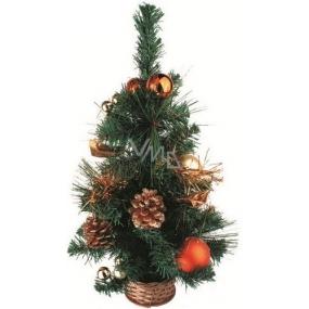 Stromek v košíku měděný dekor 45 cm