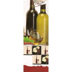 Nekupto Dárková papírová taška na láhev 33 x 10 x 9 cm víno 1 kus 970 02 ALH