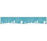 Samolepka zimní na cívce 7,6 x 200 cm trubač a sáňky č.2