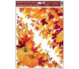 Room Decor Okenní fólie rohová 38x30 cm, podzimní listí č. 2