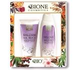 Bione Cosmetics Exclusive Q10 tělové mléko s karnosinem a inositolem 500 ml + balzám na ruce 200 ml, kosmetická sada