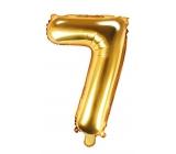 Balónek nafukovací číslo 7, 35 cm fóliový