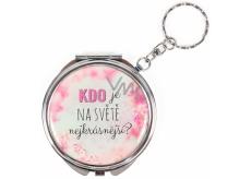 Albi Zrcátko - klíčenka s textem Kdo je na světě nejkrásnější? 6,5 cm