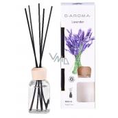 D-Aroma- Lavender - Levandule aroma difuzér s tyčinkami pro postupné uvolňování vůně 100 ml