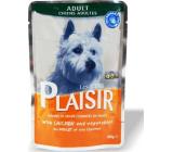 Plaisir Dog kuřecí kousky se zeleninou kompletní krmivo pro dospělé psy kapsička 100 g