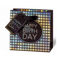 BSB Luxusní dárková papírová taška 145 x 15 x 6 cm Všechno nejlepší k narozeninám LDT 415 - CD