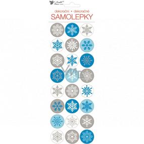 Samolepky vánoční vločky 10 x 31 cm 1 arch