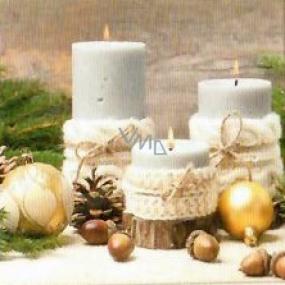 Nekupto Papírové ubrousky 3 vrstvé 33 x 33 cm 20 kusů svíčky