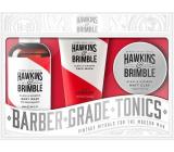 Hawkins & Brimble Men sprchový gel 250 ml + matující pomáda na vlasy 100 ml + mycí gel na obličej 150 ml, kosmetická sada pro muže