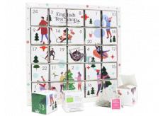 English Tea Shop Bio Adventní kalendář Puzzle bílý 25 kusů bioodbouratelných pyramidek čaje,13 příchutí, 48 g, dárková sada
