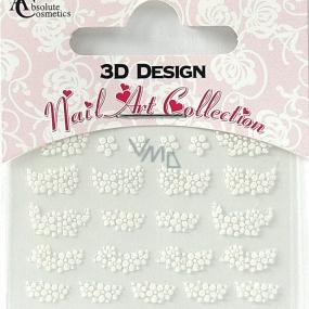 Absolute Cosmetics Nail Art 3D nálepky na nehty 24926 1 aršík