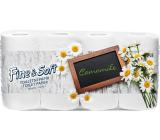 Fine & Soft Harmanček parfumovaný s vôňou harmančeka 3 vrstvový 150 útržkov 8 kotúčov
