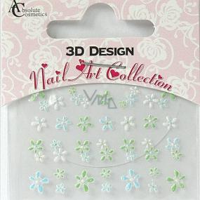 Absolute Cosmetics Nail Art 3D nálepky na nehty 24905 1 aršík