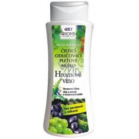 Bione Cosmetics Bio Hroznové víno čisticí odličovací pleťové mléko 255 ml