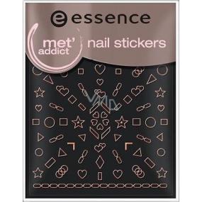 Essence Nail Art Stickers nálepky na nehty 15 Met Addict 1 aršík