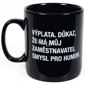 Albi Black & White Megahrnek Výplata, důkaz, že má můj zaměstnavatel smysl pro humor 800 ml