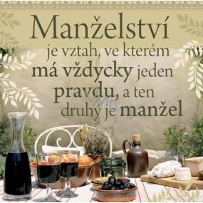 Albi Dárková kuchyňská utěrka Manželství 70 x 35 cm