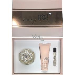 Montblanc Lady Emblem parfémovaná voda pro ženy 75 ml + tělové mléko 100 ml + parfémovaná voda 7,5 ml, dárková sada